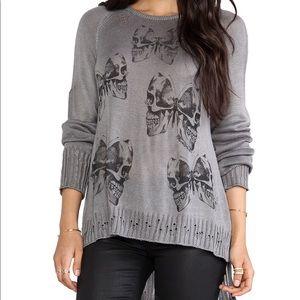Lauren Moshi Helena Mini Butterfly Skull Sweater